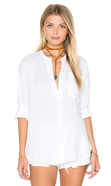 James Perse Dolman Tunic Shirt in White