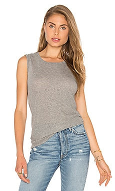 James Perse Classic Relaxed Tank in Heather Grey