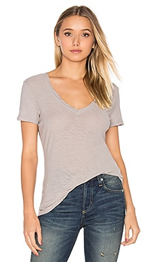 Casual V Neck Tee in Dapple