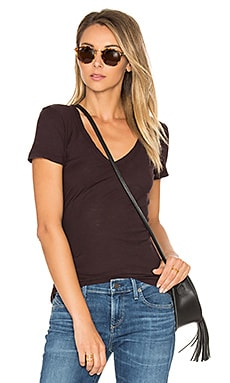 Casual V Neck Tee en Figue