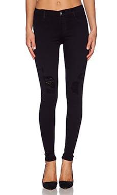 James Jeans James Twiggy Dancer Seamless Legging in Black Flex Distressed