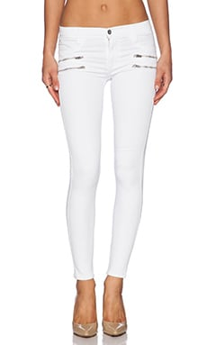 James Jeans James Twiggy Crux Double Zip Legging in White Clean