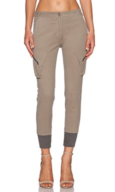 James Jeans Boyfriend Slouchy Fit Utility Cargo in Desert Taupe