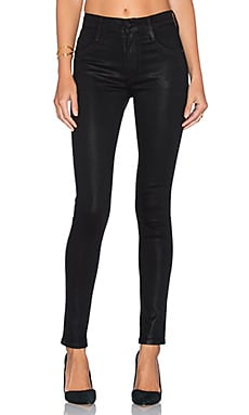 James Jeans High Class Skinny in Black Oil Slicked