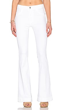 James Jeans Shayebel High Rise Flare in Clean White