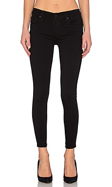 James Jeans James Twiggy Ankle 5 Pocket Legging in Black Swan