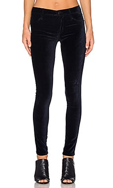 James Jeans Twiggy Velveteen in Black Navy