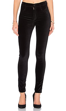 High Class Velvet Skinny in Ebony