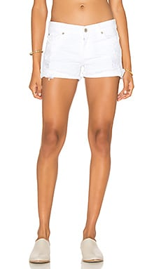 James Jeans Shorty in Destroyed White