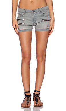 James Jeans Utility Zip Slouchy Short in Twilight