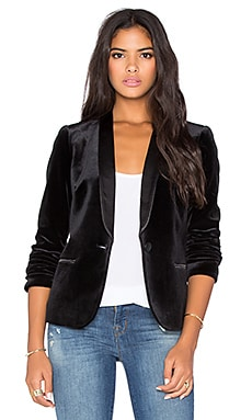 James Jeans Tuxedo Jacket in Black Velvet