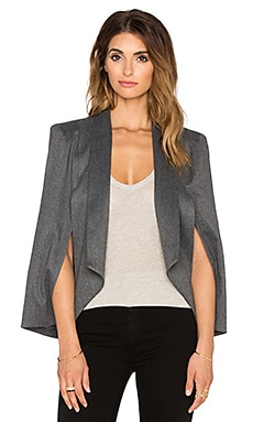 James Jeans Cape Blazer in Charcoal Flannel