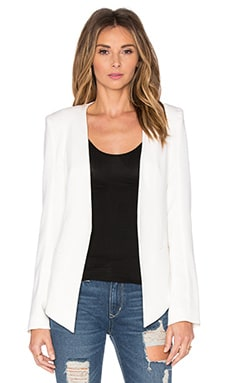 V Boyfriend Blazer in Pearl White