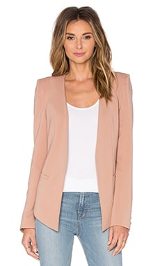 V Blazer in Peach Nude