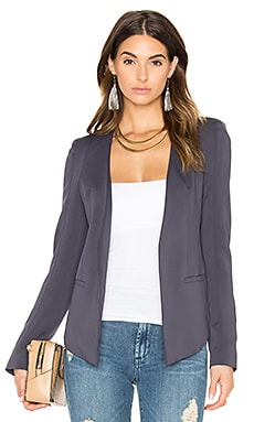 V Blazer in Charcoal Blue