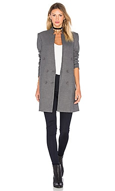 Patch Pocket Straight Blazer em Brushed Charcoal