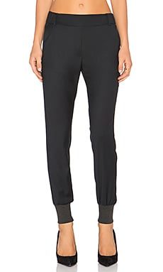 James Jeans Track Pants in Silky Blue Black