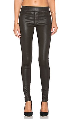 James Jeans James Twiggy Slip-On Legging in Emerald Glossed