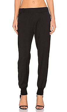 James Jeans Track Pant in Silky Black Tuxedo