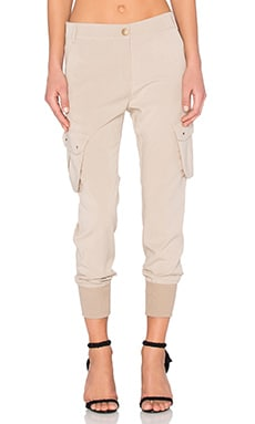 James Jeans Boyfriend Cargo Pant in Sand Chino
