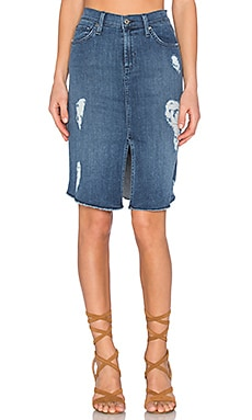 James Jeans Lana Front Slit Skirt in Forever Blue