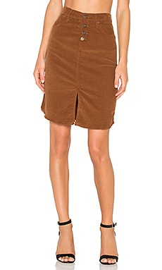 James Jeans Lana Corduroy Skirt in Classic Camel