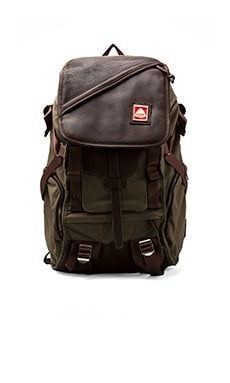 Jansport Skip Yowell Collection Pleasanton Backpack in Green Machine