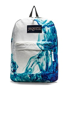 Jansport Superbreak Backpack in Blue Drip Dye