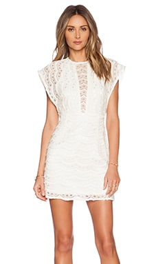 JARLO Delia Dress in Ivory Lace