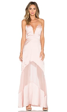 JARLO Elizabeth Maxi Dress in Blush