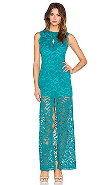 JARLO Joylyn Gown in Teal Lace