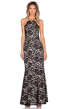 JARLO Alyssa Gown in Black Lace