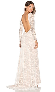 JARLO Aeris Gown in Cream & Nude