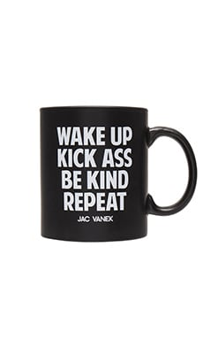 JAC VANEK Wake Up Mug in Matte Black
