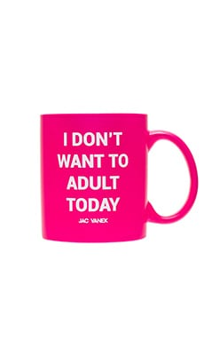 JAC VANEK Adult Mug in Fluorescent Pink
