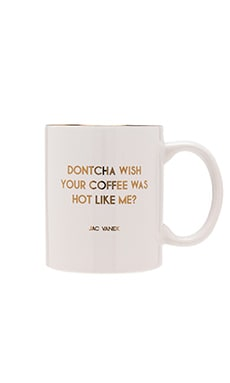 Dontcha Wish Mug in White & Gold