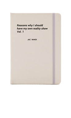 JAC VANEK Reality Show Notebook in White