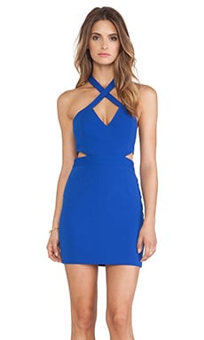 Jay Godfrey Seegar Dress in Cobalt