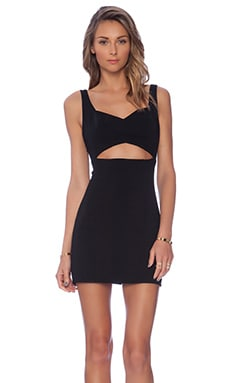 Jay Godfrey Fellows Center Cut Out Dress in Black