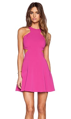Jay Godfrey Brabham Cut Out Dress in Fuchsia