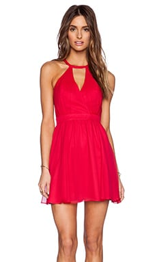 Jay Godfrey Vasser Backless Dress in Red