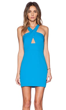 Jay Godfrey Martel Dress in Bright Blue
