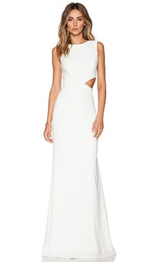 Jay Godfrey Hart Maxi Dress in Lt. Ivory