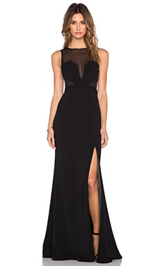 Jay Godfrey Icon Maxi Dress in Black & Black