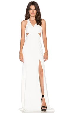 Jay Godfrey Hallendale Maxi Dress in Light Ivory