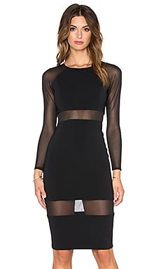Jay Godfrey Aldyn Dress in Black & Black