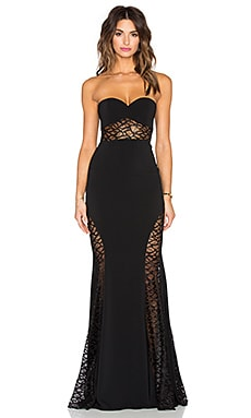 Jay Godfrey Lott Maxi Dress in Black & Black