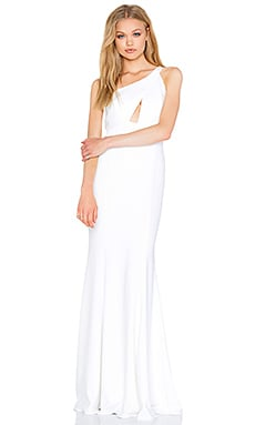 Jay Godfrey Carranza Maxi Dress in Light Ivory