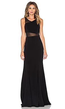 Jay Godfrey Rogers Maxi Dress in Black & Black