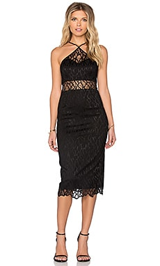 Jay Godfrey Andrews Midi Dress in Black